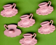 ROSE PINK TEACUP  Tea Cup Saucer Shabby Chic Novelty Dress It Up Craft Buttons