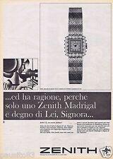 Publicité Advertising 106 1968 Zenith montre femme