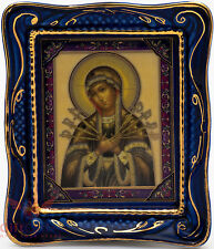Gzhel porcelain decal Icon Our Lady of Sorrows Blades Arrows Семистрельная