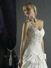 NWT Christina Wu 5485 White/silver Size 12 Long beaded bridal gown wedding dress