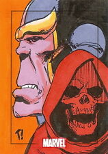 Marvel Heroes & Villains Sketch Card drawn by Tone Rodriquez