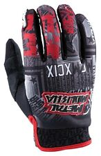 L Large Metal Mulisha Broadcast Gloves Honda Red Black MX Motorbike BMX