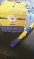 Minion like Stuart Pinata with Sweets Birthday Party & Stick Can be personalised
