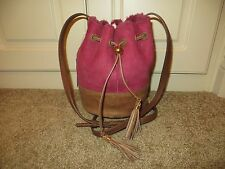 UGG AUSTRALIA NOE SANGRIA SMALL SUEDE LEATHER DRAWSTRING CROSSBODY BAG PURSE NWT
