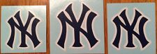New York Yankees Baseball Decals Blue And White Cut Vinyl **FREE SHIPPING**
