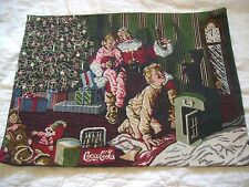 Christmas Set Placemats Lot of 8 Santa Coca Cola Holiday Toys Presents Tree