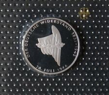GERMANY 10 MARK PROOF SILVER COIN 1994 DEUTSCHE WIDERSTAND MINT SEALED