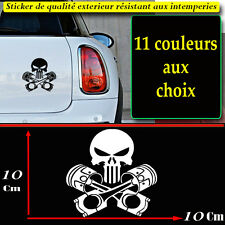 Stickers autocollant punisher skull piston auto, moto, maison porte macbook ipad