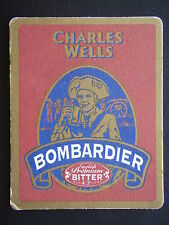 CHARLES WELLS BOMBARDIER ENGLISH PREMIUM BITTER LAND OF HOPS AND GLORY COASTER
