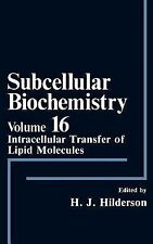 Subcellular Biochemistry: Intracellular Transfer of Lipid Molecules