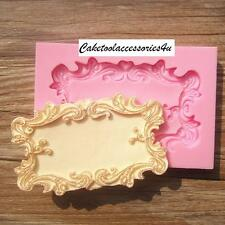 Wedding Mirror Frame Silicone Fondant Mould Cake Decorating Sugar Baking Mold