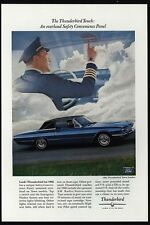 1966 FORD THUNDERBIRD Blue Town Landau Sports Car- Airline Jet Pilot VINTAGE AD