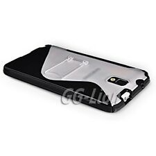 black.Gel TPU Kick Stand Case Cover For Samsung Galaxy Note III,Note 3,GT- N9005