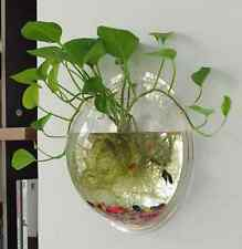 Acrylic Plant Wall Hanging Mount Bubble Bowl Fish Tank Aquarium Home Decoration