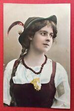 CPA. 1905. Jeune Fille.  Tyrolienne ?