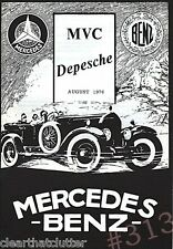 MERCEDEZ BENZ MVC Depesche August 1976 Mercedes Veteranen Club von Deuchland eV