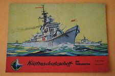 Modellbogen Küstenschutzschiff der Volksmarine, Kranich, Verlag Junge Welt, 1962