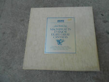BACH-MAGNICAT-8 CANTATAS-5 LP BOX-BOOK-CLOTH-GERMANY-1ST ARCHIVE SKL 1301/5-NM