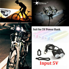 Solar Storm 8000LM X2 CREE XM-L T6 USB Waterproof Lamp LED Bicycle Headlight FH