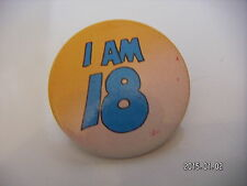 I AM 18  PICTURE BADGE