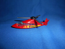 FIRE RESCUE Emergency HELICOPTER D-HEAT Plastic Toy Vehicle Kinder Surprise 1996