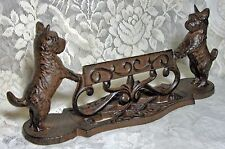 Cast Iron SCOTTIE DOG BOOT SCRAPER STATUE for Home or Garden ~ Doorstop ~ Scotty