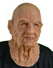 Supersoft Old DOA Man Halloween Full Whole Head Funny Scary Adult Latex Mask