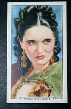 Glamorous Movie Star  Margaretta Scott   Original 1930's Vintage Card  VGC