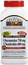 21st Century Glucosamine Chondroitin, Triple Strength, 150 Tablets 21 st