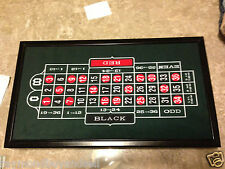 Vegas Casino Gaming Trio Set~Solid Wood~Craps~Roulette~Blackjack~21