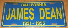JAMES DEAN METAL LICENSE PLATE Blue & Yellow CALIFORNIA 1931 - 1955 BRAND NEW!