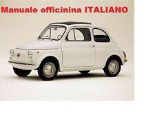Fiat 500 F D L R Manuale Officina Restauro Manutenzione ITALIANO SU CD