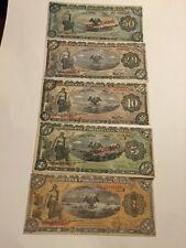 1914 Set And 1915 Set Gobierno Provisional De Mexico 1/5/10/20/50 Pesos