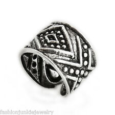 Aztec Ear Cuff Earring - 925 Sterling Silver - No Piercing Clip On NEW Tribal