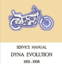 MANUALE OFFICINA HARLEY DAVIDSON DYNA EVOLUTION 1991-1998 WORKSHOP MANUAL CD