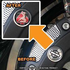 Brembo Front Brake Caliper Insert Set For Harley - GIRL SPADE RED - 104
