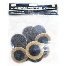 "2"" Coarse Surface Preparation Discs Pads 10-Pack & Disc Holder Fits Roloc™ Style"