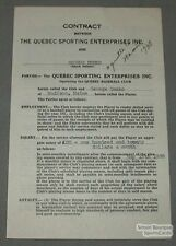 1938 Quebec Baseball Contract Signed by George Demko