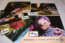 LA FEMME REPTILE !  jeu  photos cinema lobby cards fantastique hammer film 1966