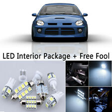 6X Bulbs LED Interior Lights Package kit For 2003-2005 Dodge Neon SRT4 White NQ