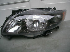 TOYOTA COROLLA SEDAN S & XRS 09 10 HEADLIGHT OEM BLACK BEZEL ORIGINAL LH