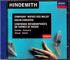 David OISTRAKH: HINDEMITH Violin Concerto ABBADO CD Mathis der Mahler KLETZKI