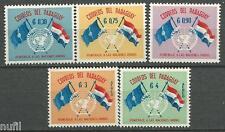 PARAGUAY yvert # 585/587 PA264/265 ** MNH Set ONU UN flags / Banderas