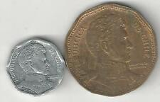 2 COINS from CHILE - 1 & 50 PESOS (BOTH DATING 2006)