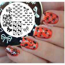 BORN PRETTY Nail Art Stamp Template Mini Bowknot Image DIY Stamping Plate BP62