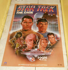 original STAR TREK THE CAGE video store poster