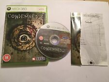 PAL XBOX 360 GAME CONDEMNED 2 / II +BOX & INSTRUCTIONS COMPLETE