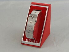 Guess Polished Silvertone Metal Mesh Belt Buckle Bracelet Boxed $29.50