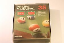 VINTAGE PHILIPS G7000 CONSOLE COMPUTER VIDEOPAC 35 BILLIARDS  GAME 1981 HARD BOX