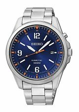 BRAND *NEW* MENS SEIKO KINETIC 100m WATCH SKA609P1 RRP £279